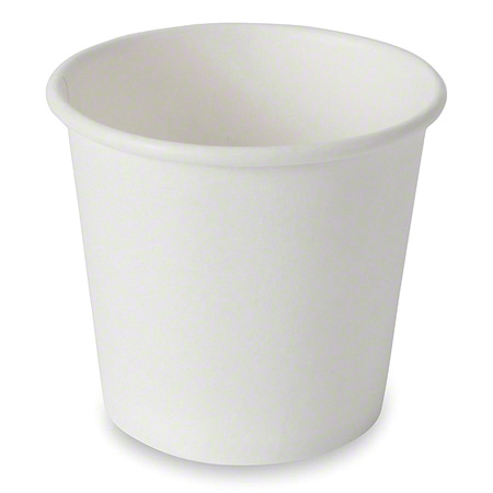 CUP1H04W-PR PRONTO 4OZ FLAT BOTTOM WATER CUP, PAPER, 1000/CASE