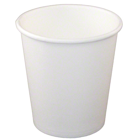 1H08W-PR CUP PAPER HOT 8OZ SINGLE WALL WHITE 1000/CASE