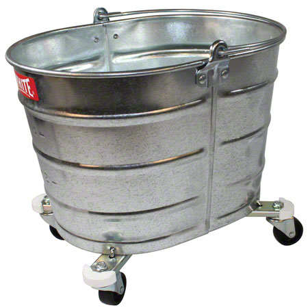 "260 GALVANIZED OVAL MOP BUCKET WITH 2"" CASTERS"