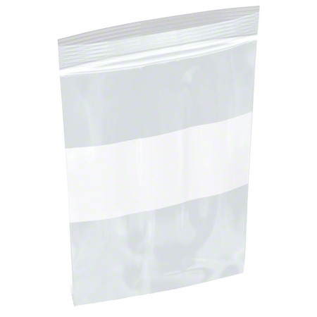 ZIPLOCK BAGS 4 X 6 X 4MIL WITH WHITE BLOCK 1M/CS