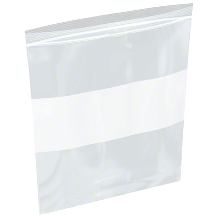 ZIPLOCK BAGS 8 X 10 X 4MIL WITH WHITE BLOCK 1M/CS