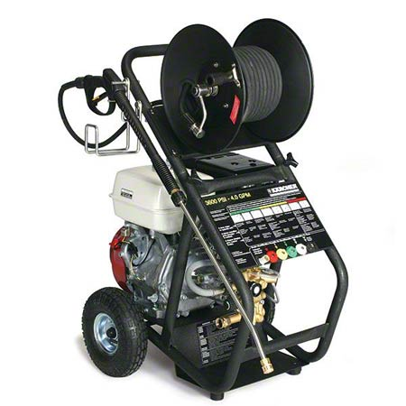 1.575-108.0 Pressure Washer 4.0 Gpm,3600psi, 13 HP Honda W Hose Reel