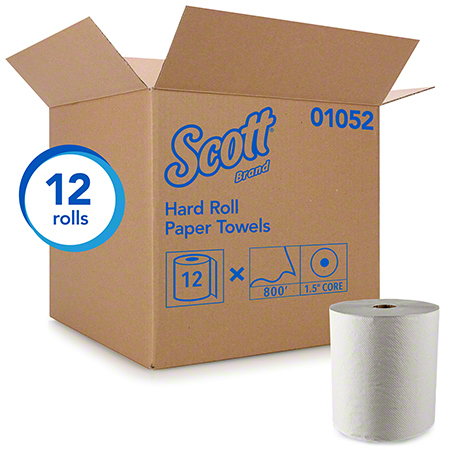 02000 SCOTT ROLL TOWELS WHITE 1.75 CORE, 6RL X 950'