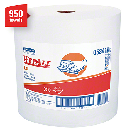 "05841 WYPALL L30 WIPERS WHITE 11.8X13.4"" JUMBO 950'/RL"