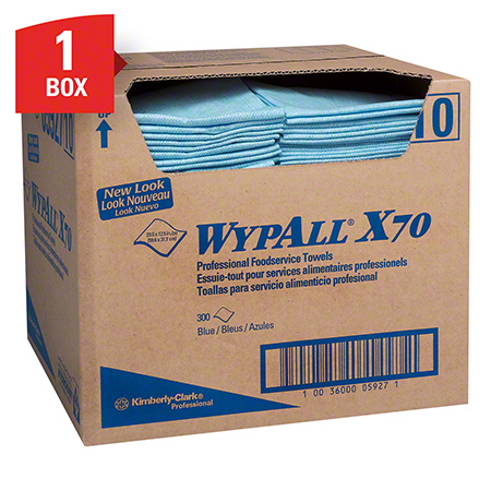 "05927 WYPALL X70 FOODSERVICE 12.5 X 23.5"" 300/CS BLUE"