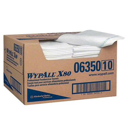"06350 WYPALL X80 FOOD SERVICE WIPES, WHITE. 13.5X24"" 150/CS"