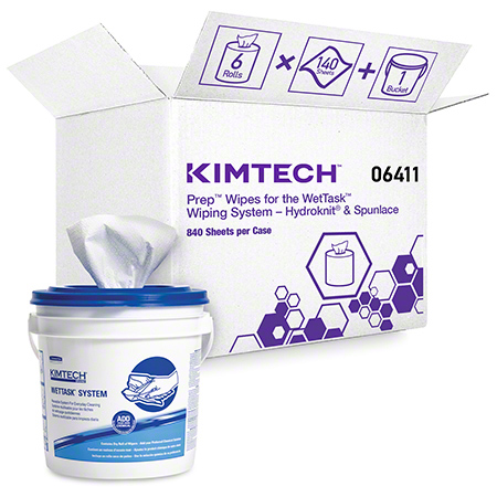 "06411 WET TASK WIPES WHITE 12"" X 12.5"" 6X90 CS"