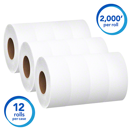 07223 SCOTT JUMBO BATHROOM TISSUE 1 PLY, 12 RLS X 2000 FT