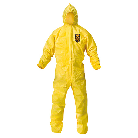 09814 KLNGD A70 HOODCOVER COVERALL XLG. YELLOW 12/CS