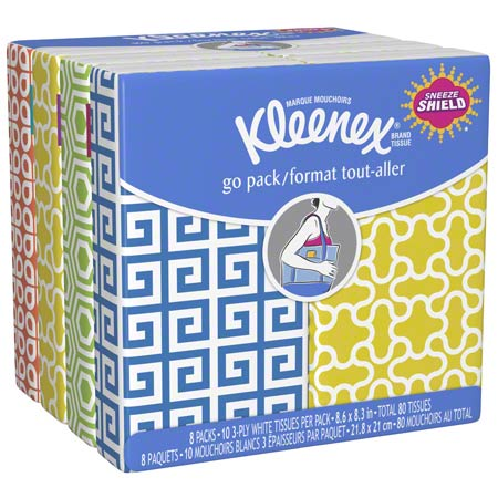 11975 2PLY POCKET KLEENEX FACIAL TISSUE 192PKG X 10SHEETS/CS