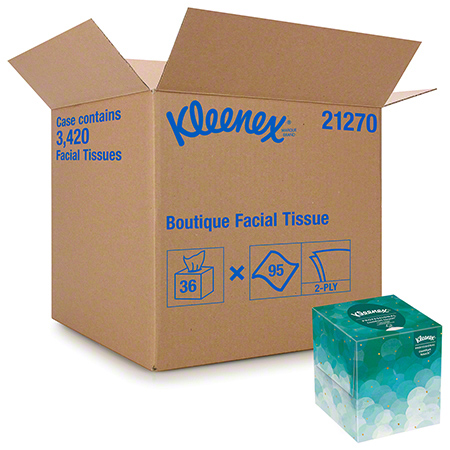 21270 BOUTIQUE FACIAL TISSUE, 2 PLY, 36 BOXES X 95 SHEETS