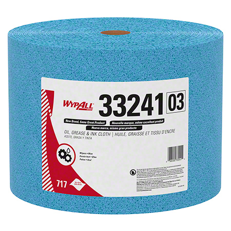 "33241 KIMTECH PREP WIPERS BLUE 9.8"" X 13.4 "",717SHTS/CS JUMBO ROLL FORMAT"