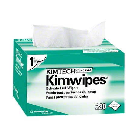 34120 KIMWIPES EX-L WHITE 1PLY 4.4″ X 8.4″, 30BX X 280SHTS/CS
