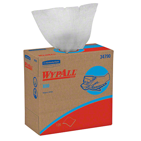 "34790 WYPALL X60 WIPERS WHITE 9.1""X16.8"" 10X126/CS POP UP"