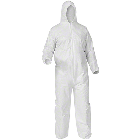 38938 A35 HOODED COVERALL, LG 25/CS