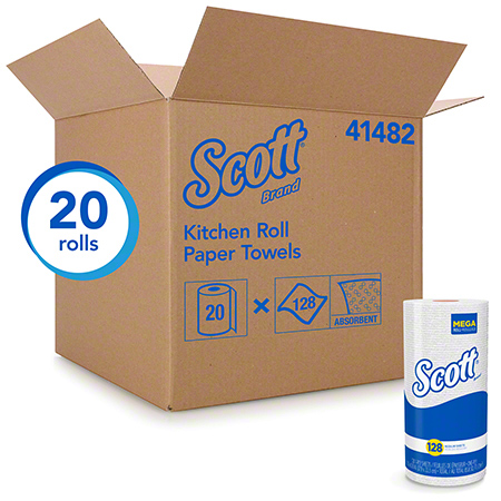 41482 SCOTT KITCHEN TOWELS 1 PLY. 20 RLS X 128 SHEETS