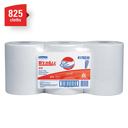 "41702 WYPALL X70 WIPERS WHITE HYDROKNIT 9.8"" X 13.4"" CENTRE PULL ROLLS 3/CS"