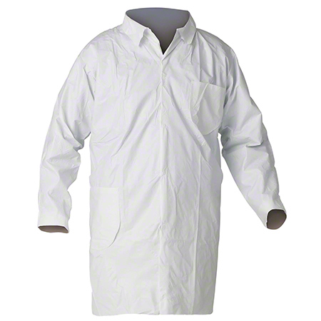 44453 KLEENGUARD LAB COAT-LRG- 30/CS