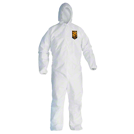 46113 KLEENGUARD A30 HOODED COVERALL, L. 25/CS
