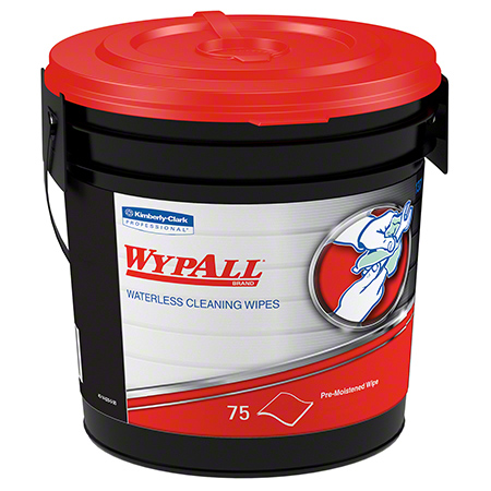 91371 WYPALL WATERLESS HAND WIPES, BUCKET 6 X 75/CS