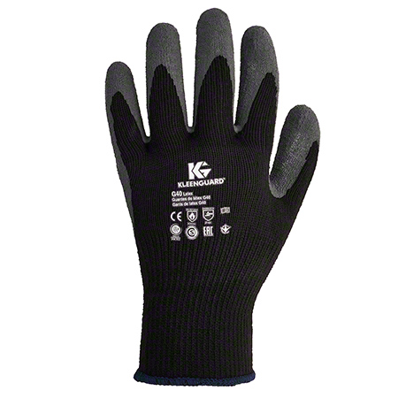97271 G40 MED. COATED LATEX GLOVES KLEENGUARD GREY/BLK 12 PK