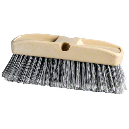BV-300AR 10″ACID RESISTANT VEHICLE BRUSH (SOFT), GREY/WHITE, FLAGGED FILL, PLASTIC BLOCK