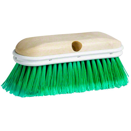 BV-301F CAR TRUCK BRUSH 10″ PLASTIC BLOCK WITH BUMPER GREEN FLAGGED