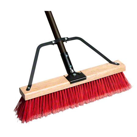 PB-700-RB24 RYNO 24″ PUSH BROOM W POLY PRO FILL C/W BRACE & TAPERED HANDLE