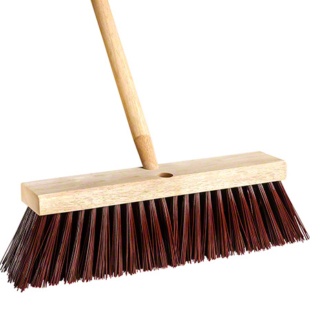 PB-ST14 STREET/STABLE BROOM HEAD STIFF POLYPRO – 14″