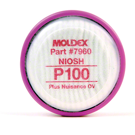 7960 MOLDEX P100 FILTER DISK WITH NUISANCE & ORGANIC VAPOR FOR 7000 AND 9000 SERIES MASK 1PR/BAG