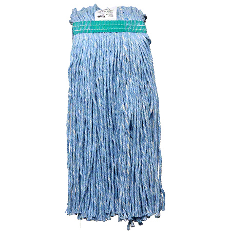 136327 ZINGER 24OZCUT END BLUE MOP HEAD 12/CS