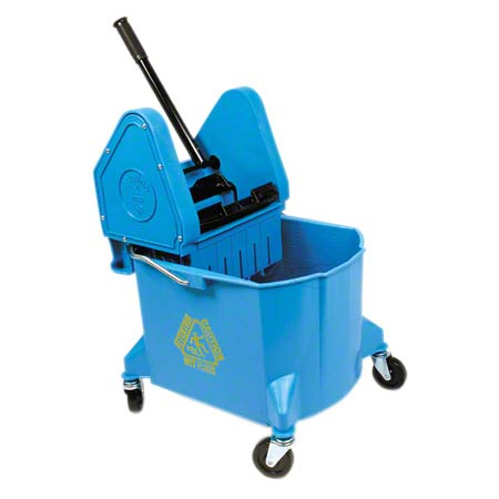 134719 BLUE BUCKET & DOWNPRESS WRINGER COMBO 32QT.