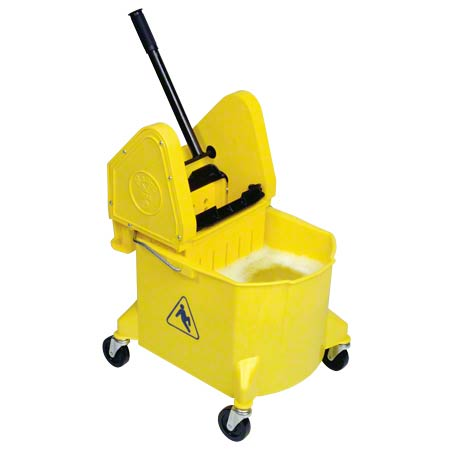 BW D33100 ROY TURK BUCKET WRINGER COMBO, DOWNPRESS, YELLOW 32 QT