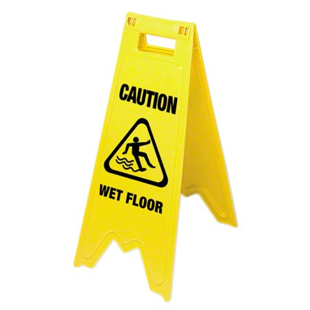 134775 ENGLISH/FRENCH WET FLOOR SIGN (Replaces 134777)