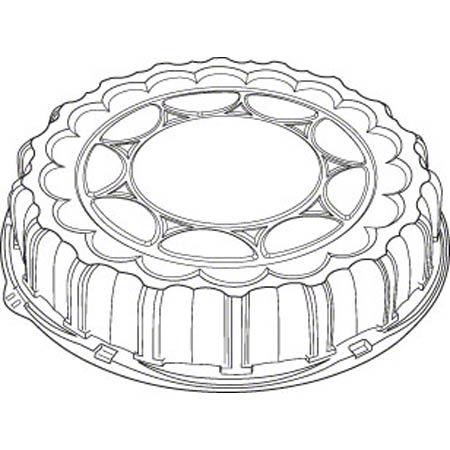 "P9812 LID FOR 12"" ROUND PACTIV CATERING TRAY 50/CS"
