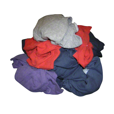 C. MILL WIPING CLOTH, 25 LBS COLOURED, T-SHIRT TYPE