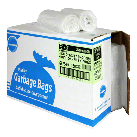 2885-90 36X50 21 Mic CLEAR HIGH DENSITY GARBAGE BAGS 200/CS RL