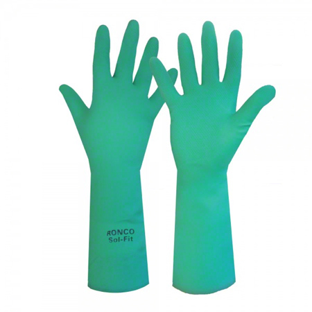 29-958-09 RONCO SOL-FIT GREEN NITRILE GLOVE 22MIL 18″ LONG 6 PRS/BAG