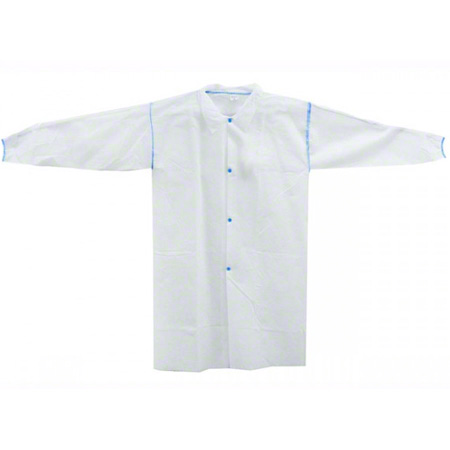 44-150-L COVER ME, WHITE LAB COAT LARGE 25/CS