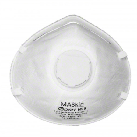 6155 MASKIN N95 PARTICULATE RESPIRATOR WITH VALVE, 10 MASKS/BX