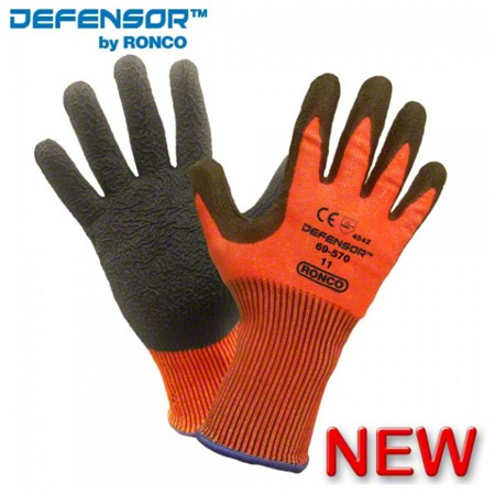 69-570-09 DEFENSOR TRI-POLYMER NITRILE PALM COATED CUT LEVEL 5 SIZE 9 6/BAG