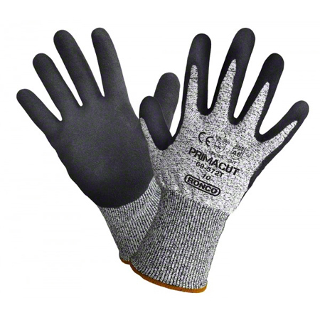 69-572T-10 PRIMACUT SANDY NITRILE PALM COATED TOUCH GLOVES CUT LEVEL 5 6PR/BAG