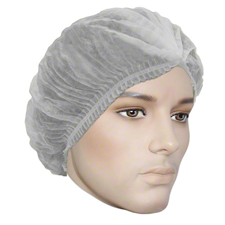 "7021W BOUFFANT CAP PLEATED 21"" WHITE 1000/CS"