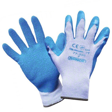 77-500-07 GRIP IT LATEX COATED GLOVE SIZE 7 (SOLD PER PAIR)