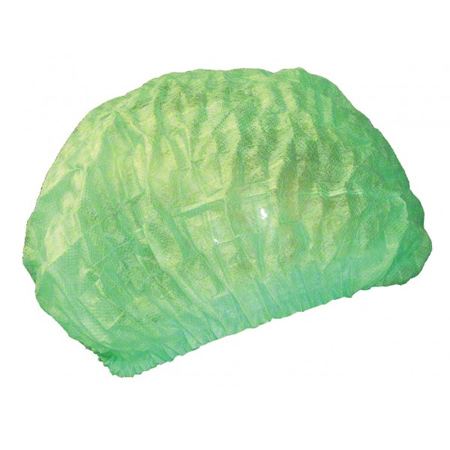 779 Cova Cap Green Pleated Bouffant Cap 21″ (4 X 250)