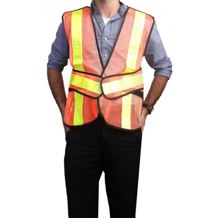 90-350 Traffic Vest 5-point Tear Away Adjustable