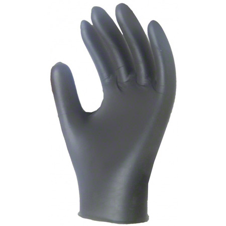 932S RONCO CARE SMALL NITRILE POWDER FREE BLACK GLOVES 200/BX