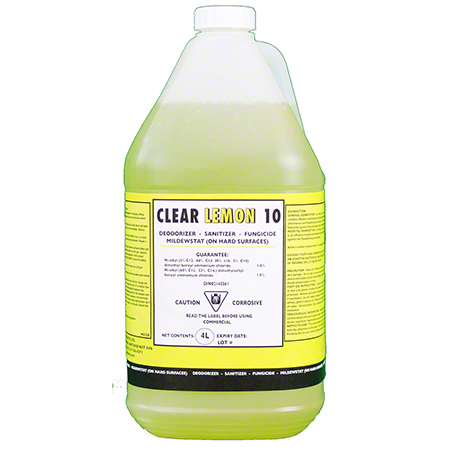 H220-4 CLEAR LEMON 10 DISINFECTANT 4 X 4L/CS