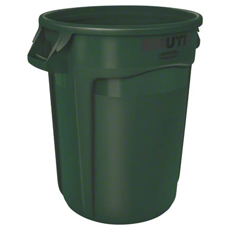 FG263200DGRN 32 GALLON ROUND BRUTE-DARK GREEN
