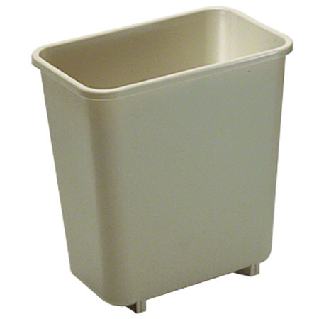 "2952 BEIGE WASTE BASKET 9"" X 6 3/4"""